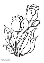 Tulipani Da Colorare Per Bambini.Stampate E Colorate I Tulipani Di Fiori Da Stampare Disegno Fiori Disegni Da Colorare