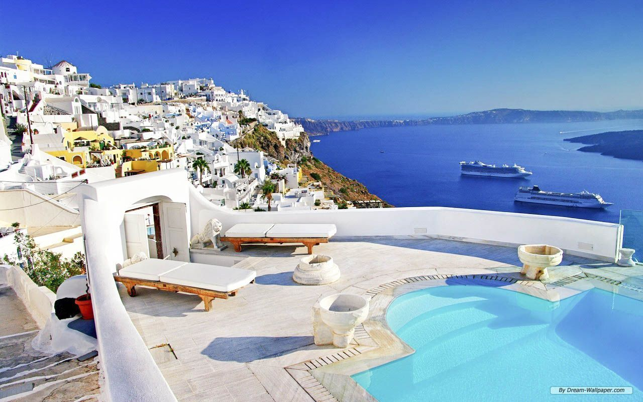Santorini Amazing Hd Wallpapers High Resolution All Hd Wallpapers Santorini Resorts Beautiful Places To Visit Beautiful Places