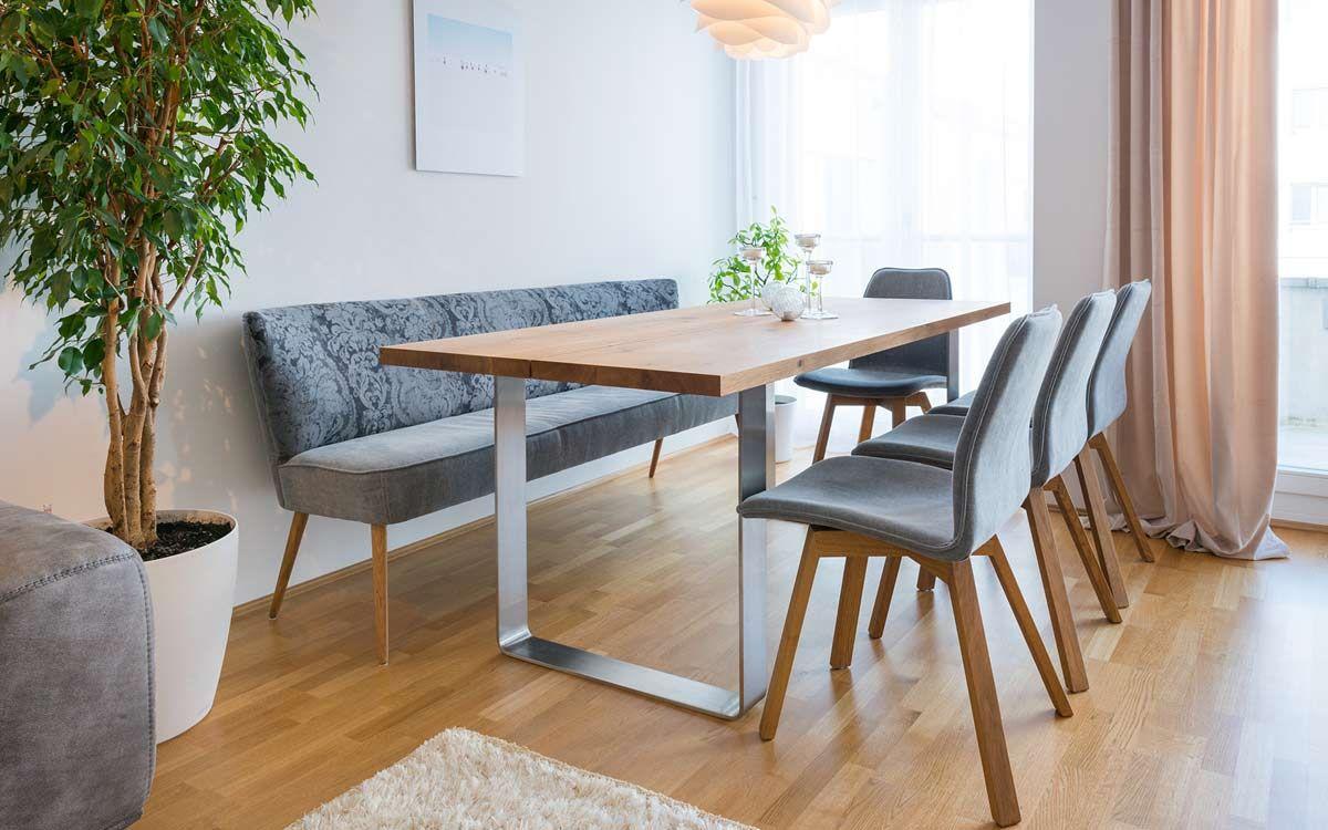 Tisch und Bank Minimalistische esszimmer