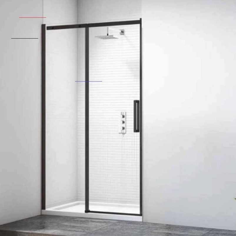 Merlyn Black Sliding Shower Door 1400mm Blkfsl1400h Slidingshowerdoors In 2020