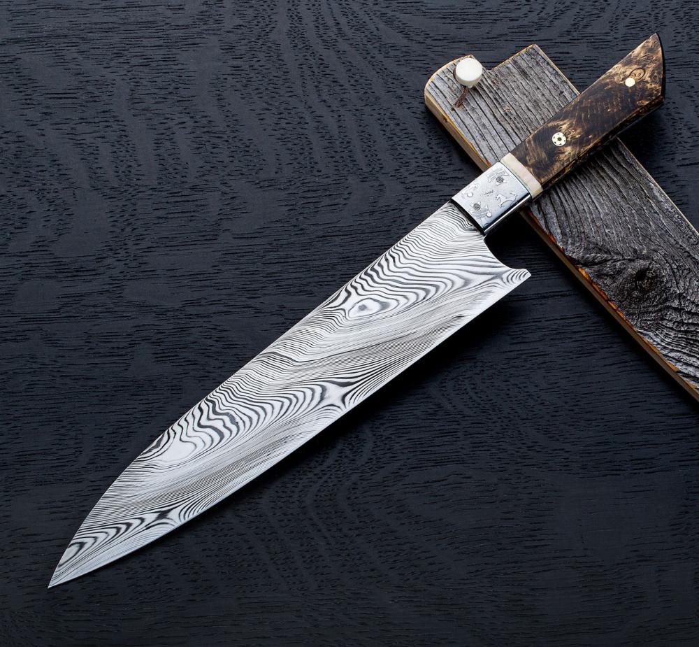 Stallion Damasteel Chef 250mm Eatingtools Com Chef Knife Japanese Kitchen Knives Knife
