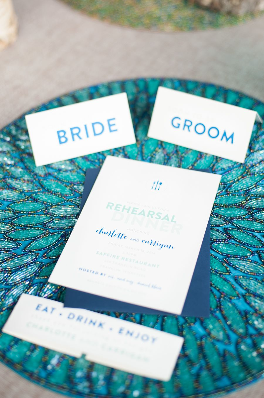 Rehearsal Dinner | Rehearsal dinners, Blue yellow and Teal weddings