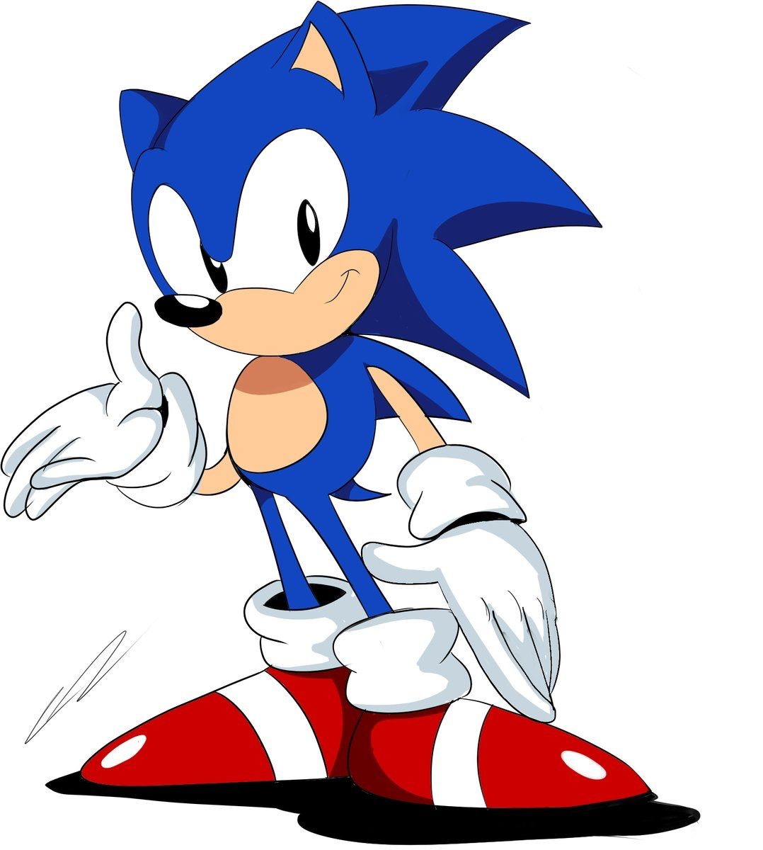 Classic Sonic Hedgehog Art Classic Sonic Crocodile Cartoon