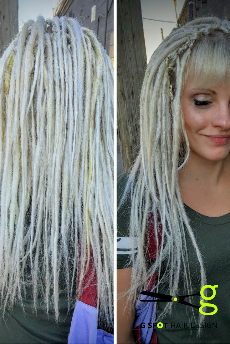 Synthetic dreadlock extensions at G Spot Hair Design Des Moines Iowa ...