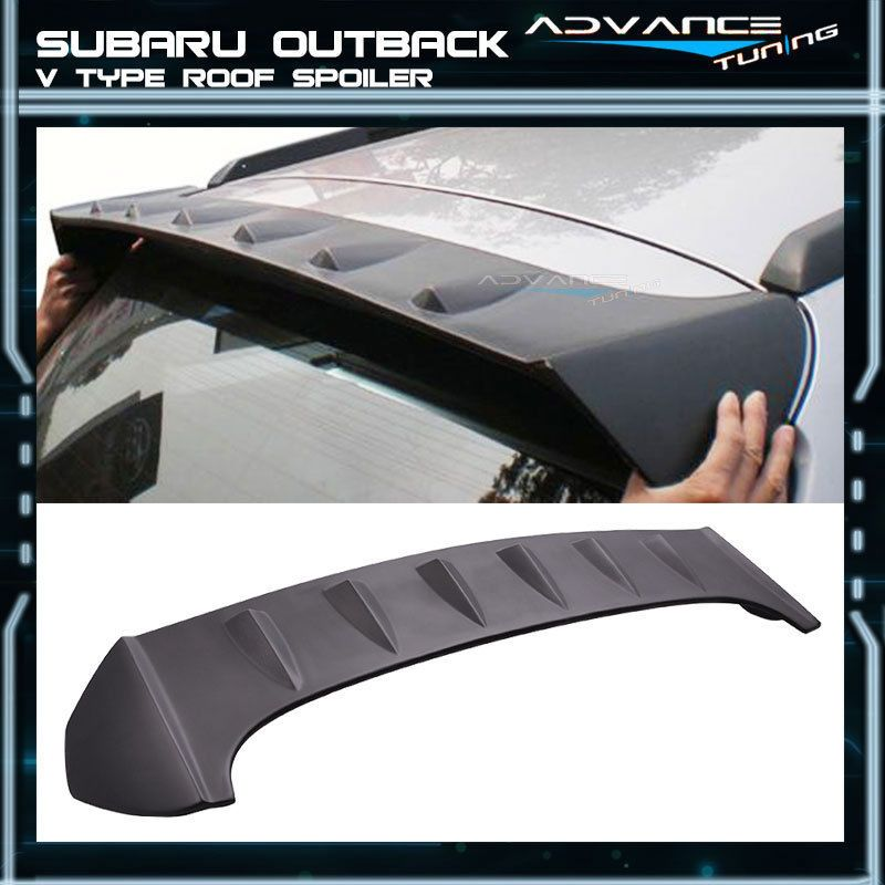 Fit For 10 14 Subaru Outback V Type Unpainted Roof Spoiler Wing Abs Ebay Motors Parts Accessories Car Subaru Outback Accessories Subaru Subaru Outback
