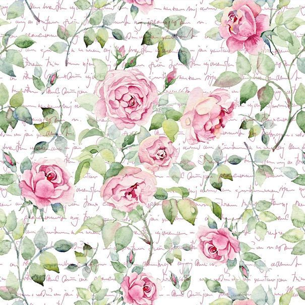 Photo of $6.99 – Dollhouse Miniature Shabby Chic Wallpaper Pink Roses Floral 1:12 Flowers #ebay #Collectibles