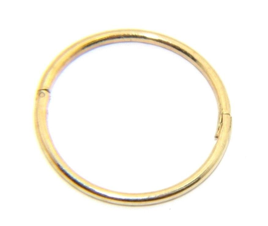Single Gents Mens 9ct 9carat Yellow Gold Hinged Sleeper Hoop Earring Uk Er