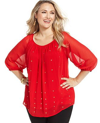 4813bc5f1f931 AGB Plus Size Top