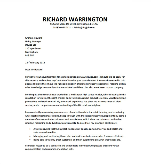 Cover Letter Templates Free Download (2) TEMPLATES