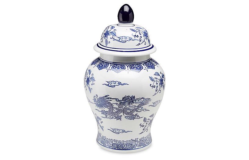 One Kings Lane 18 Dragon Ginger Jar Blue White Ginger Jars Blue And White Dinnerware Blue And White