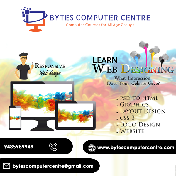 Bytes Computer Centre Is No 1 Computer Training Institute In Ambala Offering Web Designing Training In Ambala Web Design Training Web Design Course Web Design