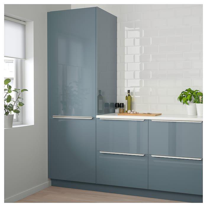 IKEA KALLARP High Gloss Gray-Turquoise Door images