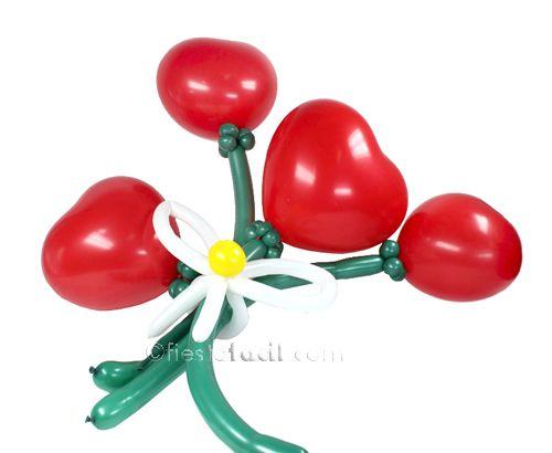Como Hacer Romanticas Flores Con Globos En El Blogfiestafacilcom - Como-hacer-flores-de-globos