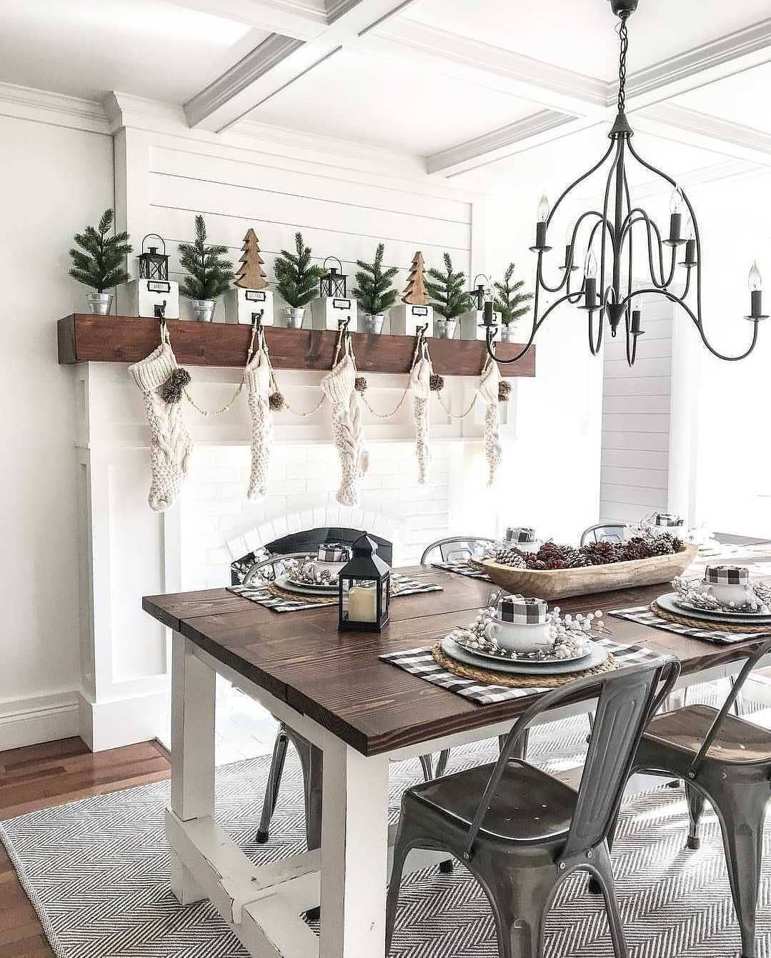 Industrial Farmhouse Wood, shiplap, metal chairs