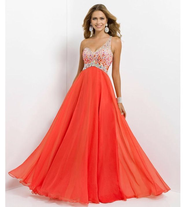 Neon Coral Bridesmaid Dresses Neon orange prom dress | Fashion ...