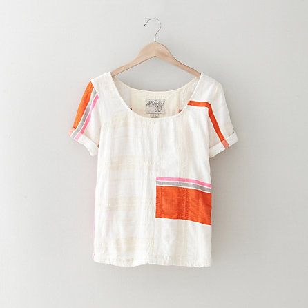 Ace & Jig Rolled Tee | Womens Tops| Steven Alan