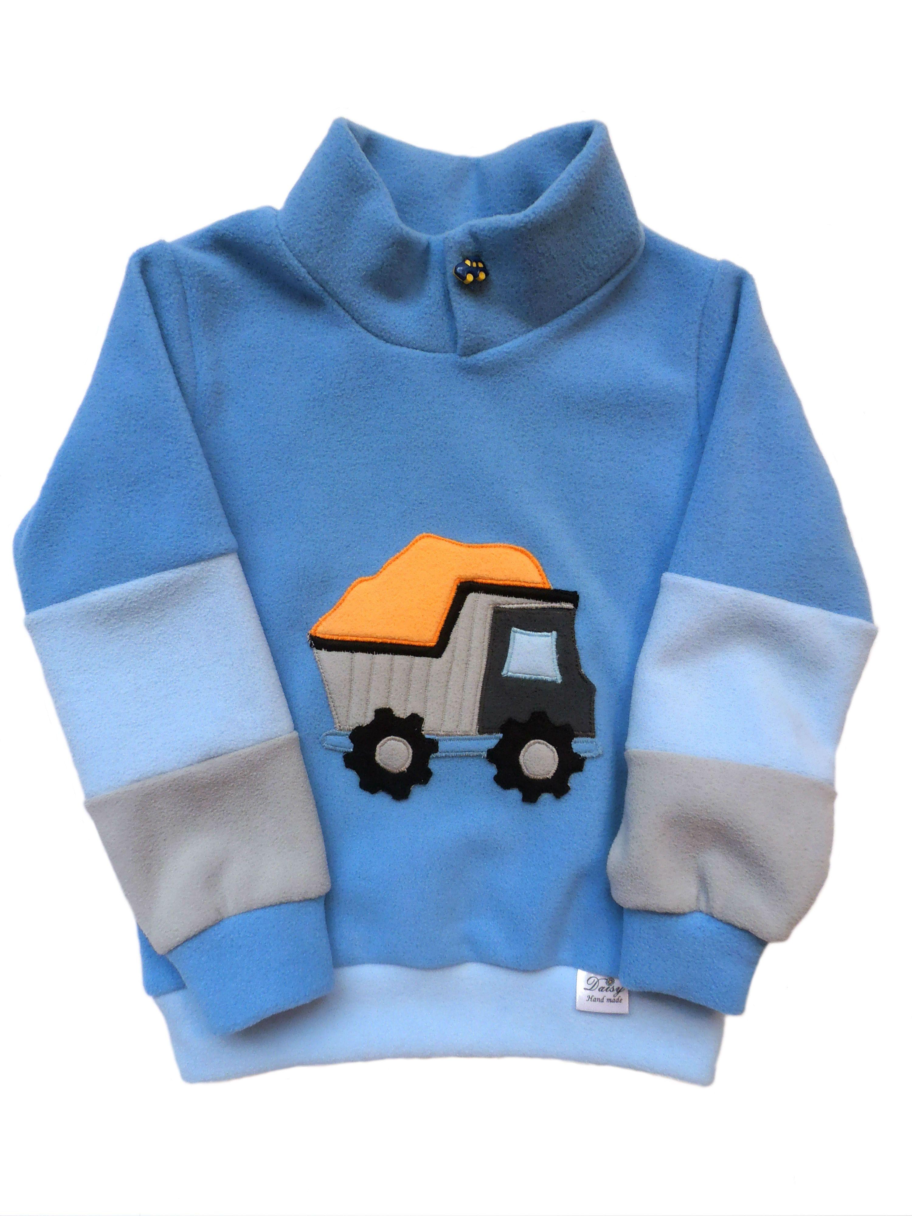 Dětská mikina auto. Fleece s antipillingovou úpravou proti žmolkování a s  tepelně izolačními vlastnostmi (termoizolační 363f5f14fe9