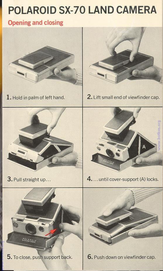 Polaroid Sx 70 Camera Manuals User Manuals Classic Camera Instant Photography Sx 70 Polaroid
