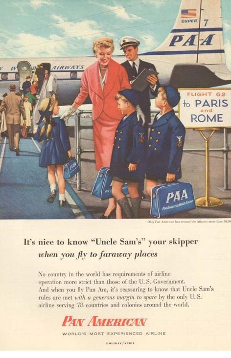 Pan Am Ad Voyages Air Usa