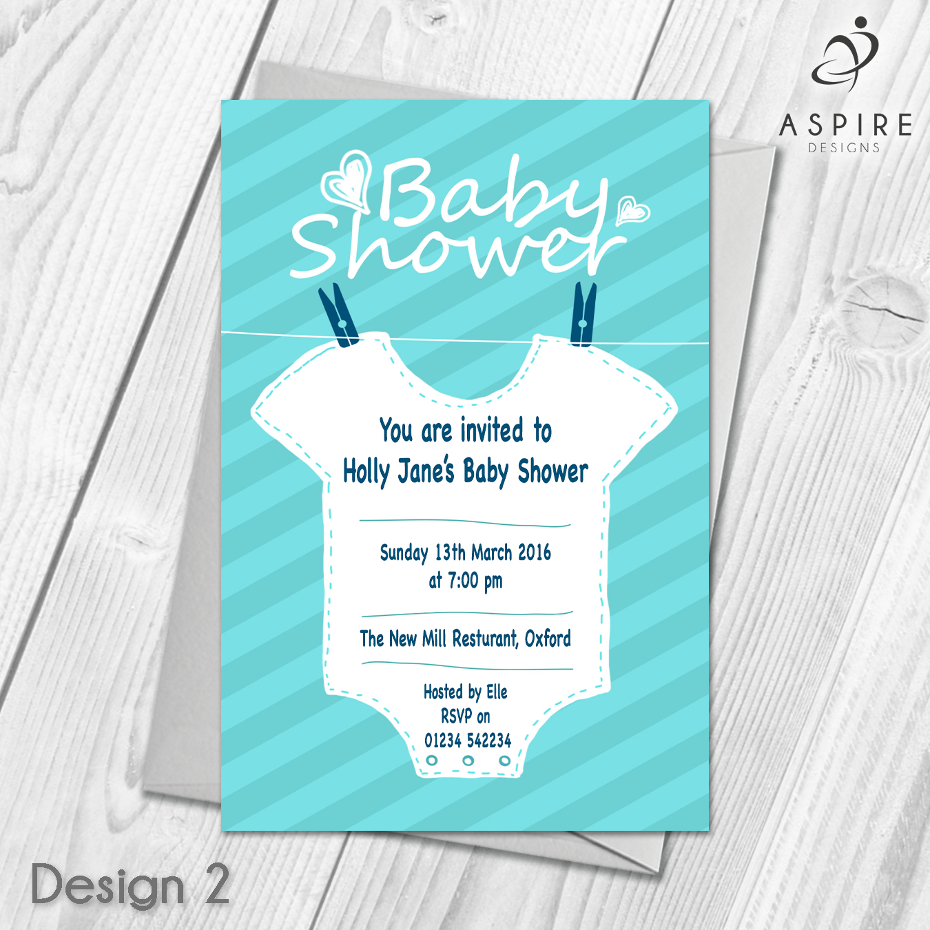 Personalised Baby Shower Invitations Invites / Cards & Envelopes ...