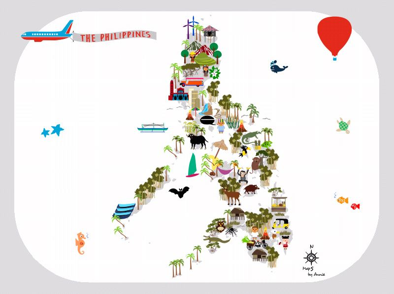 The philippines map this map will be an eyecatcher on a kidsroom but the map will be very - Kinderzimmer holland ...