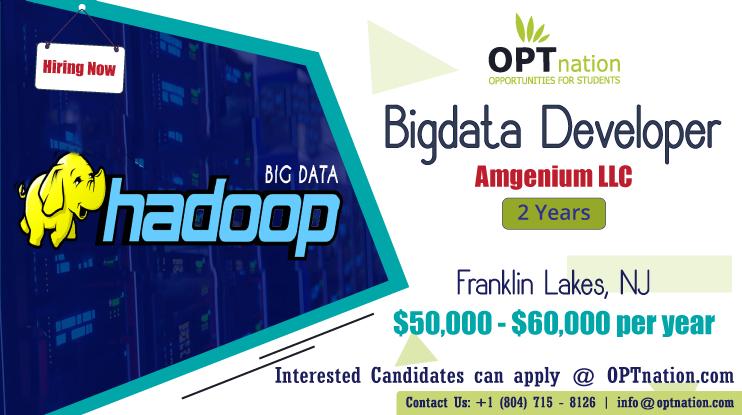 We're Hiring Bigdata Developer in Houston, TX. Build your