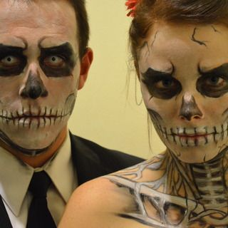 instructable how to skeleton halloween makeup