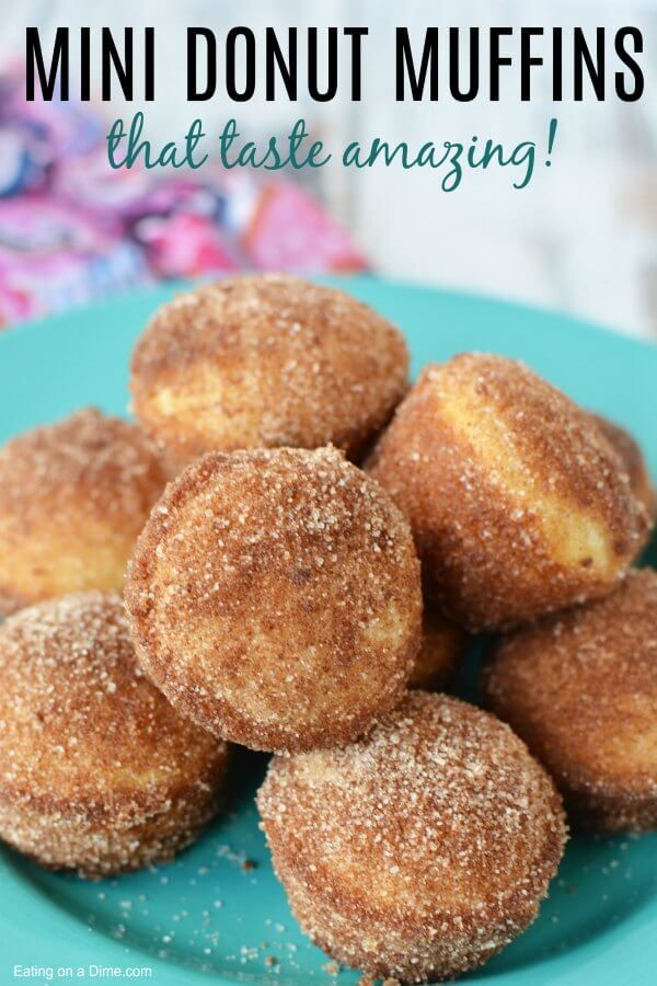 Mini Donut Muffins - Easy Cinnamon Sugar Mini Donu