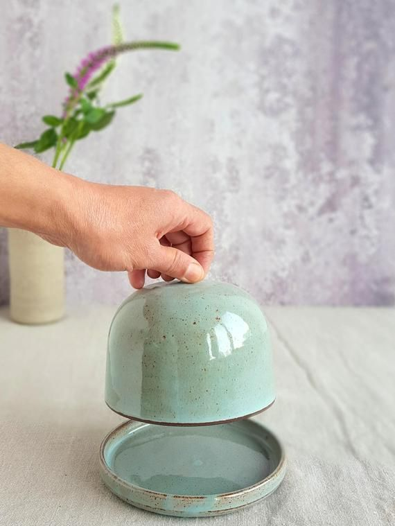 Keramik bedeckt Butterdose #potteryideas
