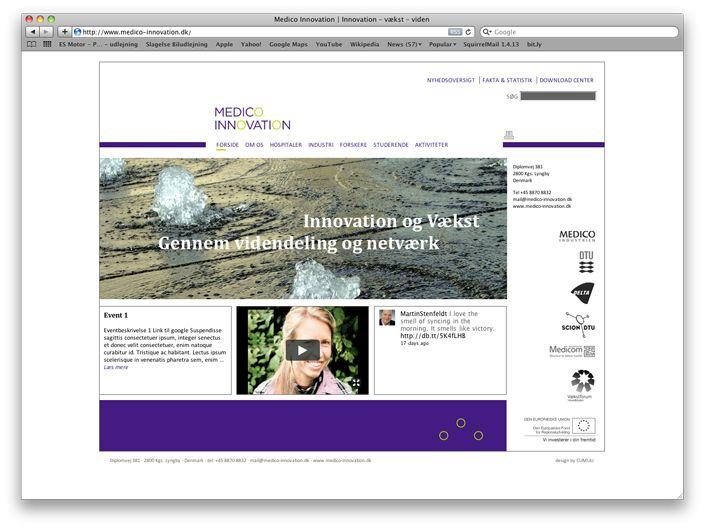 Website, wo die drei Partner Wissen teilen und Beiträge posten können. Nachrichten und Twitter-Feeds stehen auf der Startseite neben eigenen Videodokumentationen.