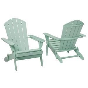 Null Mist Folding Outdoor Adirondack Chair 2 Pack Backyard