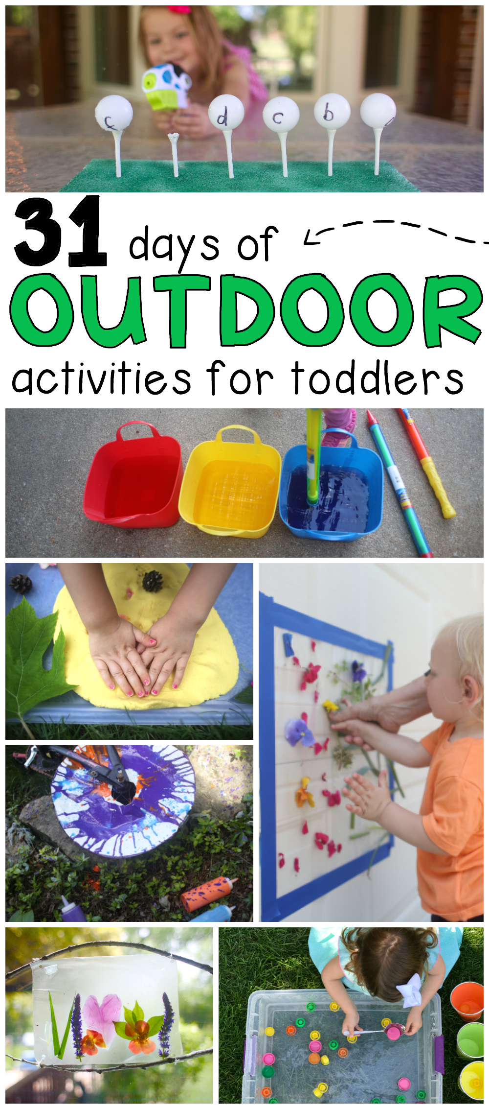 31 Days Of Outdoor Activities For Toddlers Preschool Ideas