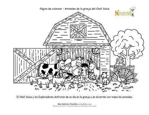 Pagina Para Colorear Para Los Ninos De Animales De Granja Escena