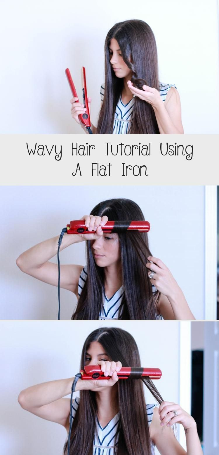 Wavy Hair Tutorial Using A Flat Iron Hairstyle