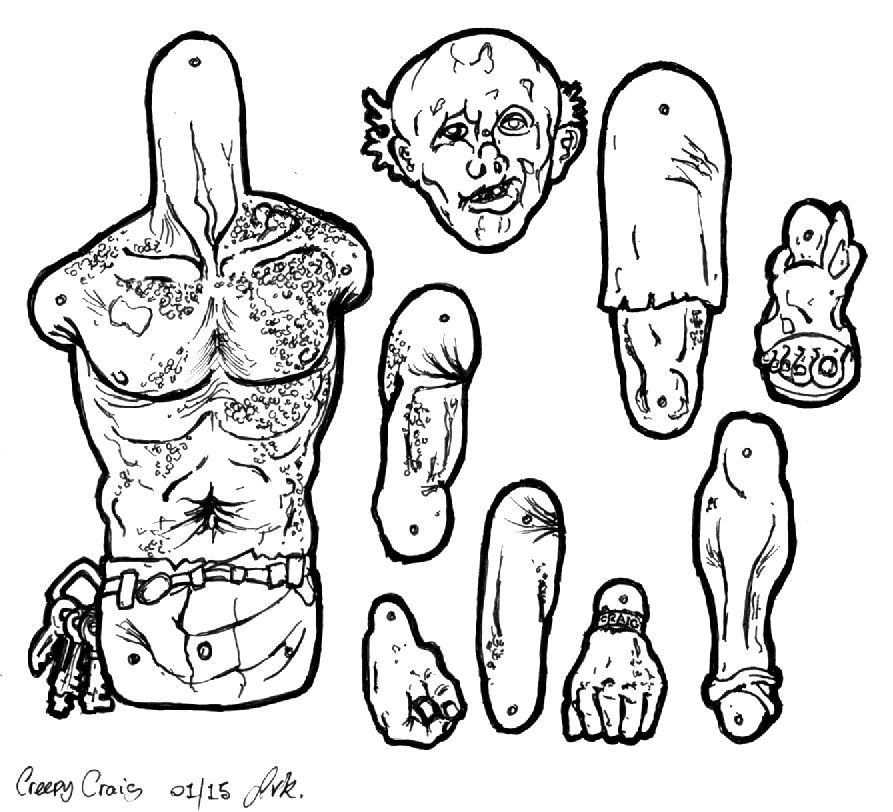Creepy Craig WIP. by MadunTwoSwords on DeviantArt