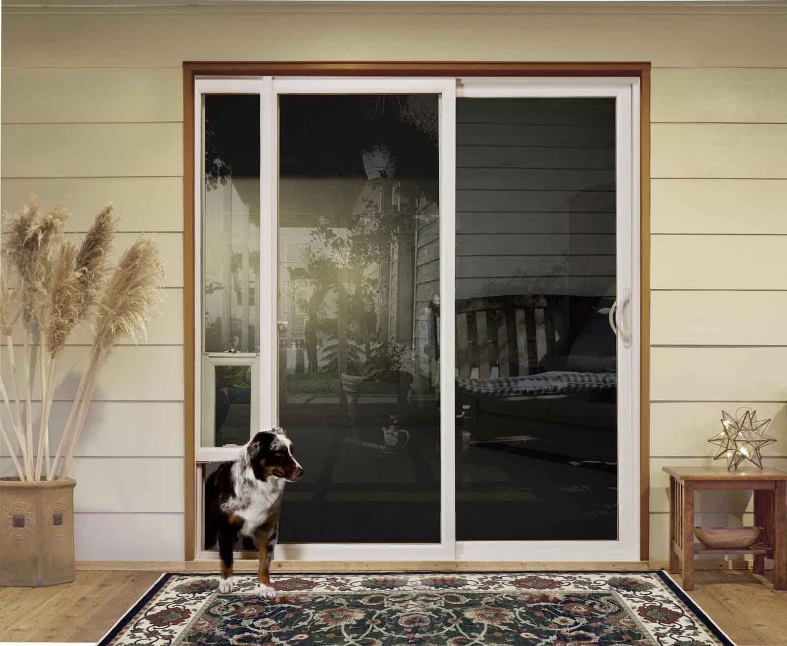 Patio Door With Built In Dog Door Lighthouseshoppe Vinyl