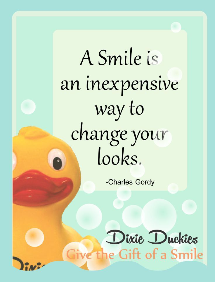 A simple smile changes everything. #smile quotes #rubber duckie