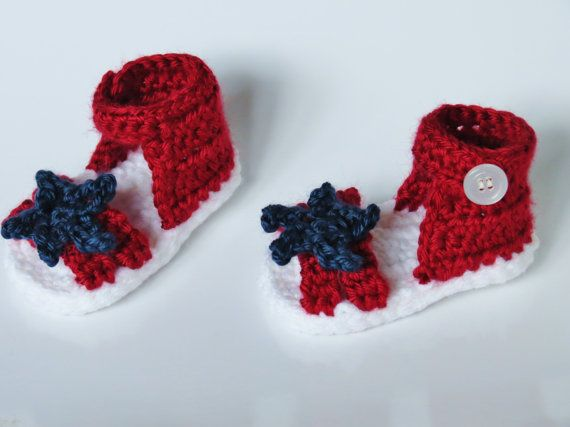 Americana Fourth of July Crochet Baby Sandals | Crochet | Pinterest