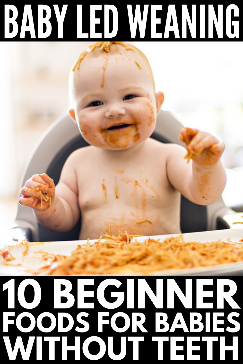 10 Baby Led Weaning First Foods to Try | Introducing solids at 6 months can be both fun and terrifying. Many parents are skipping purees in favor of finger foods – a feeding method known as baby led weaning. If you want to know more about BLW – What is it? How do I know my baby is ready? What size should food be? Etc. – we're sharing our best tips, beginner foods for babies with no teeth, and health menu options and recipes the whole family will love! #babyledweaning #BLW #starterfoods