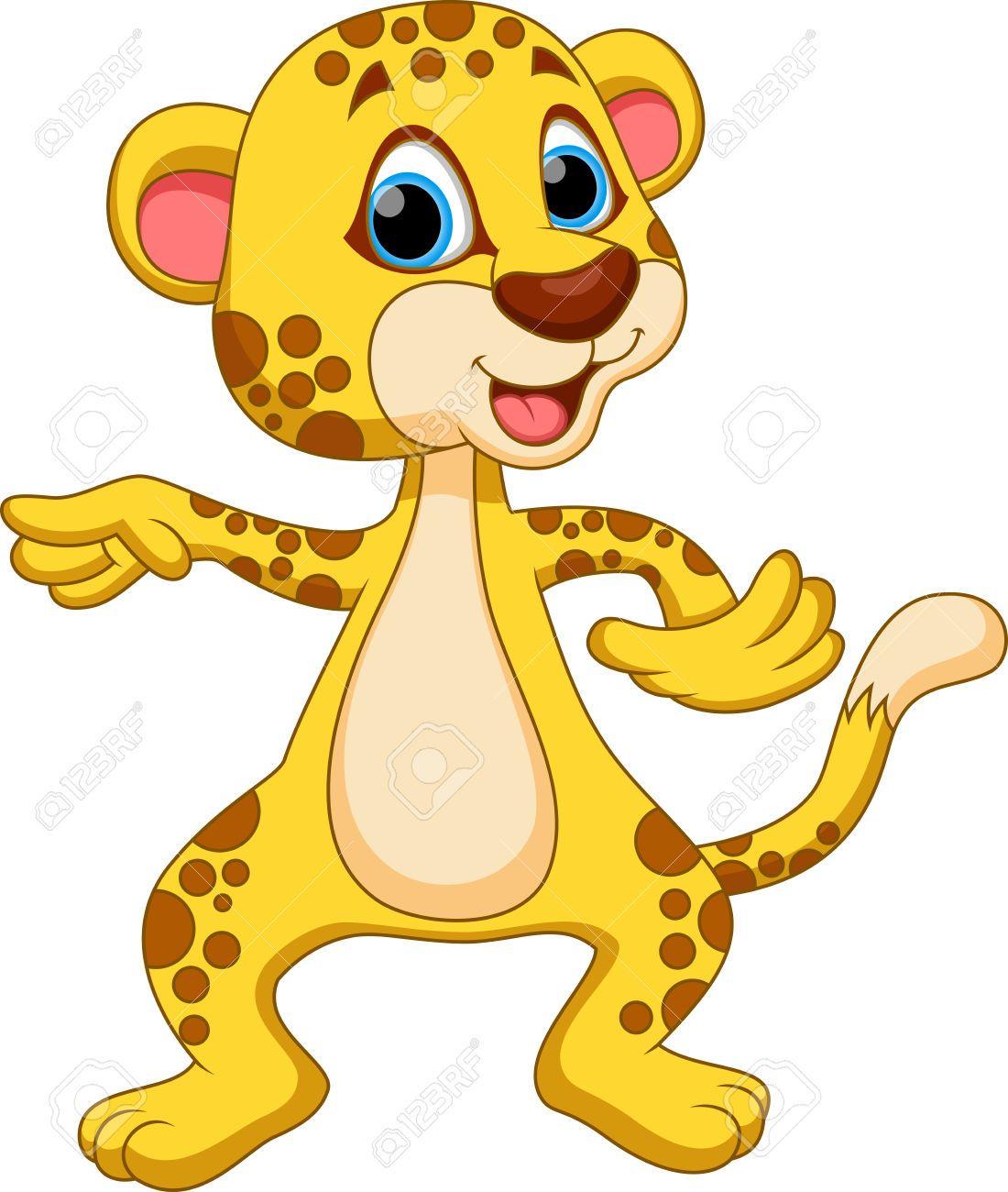 Animated Cheetah Wallpaper stock vector   cheetah cartoon, cartoon, cute