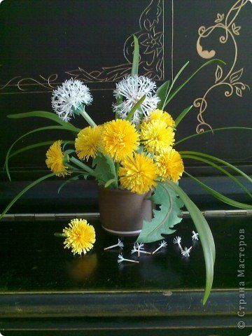 How To Make Beautiful Paper Dandelions Ffflowers Quilling