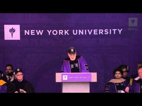 NYU's President John Sexton's 2012 Commencement speech. #video #graduation