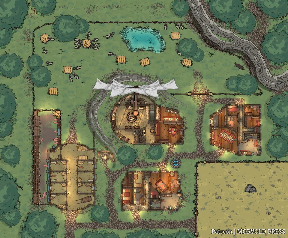 The Lox Brothers Mill & Farm [52 x 43] battlemaps in