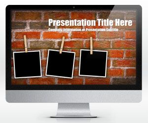 Brick wall powerpoint template with photo placeholders is a free brick wall powerpoint template with photo placeholders is a free widescreen powerpoint background template with three toneelgroepblik Images