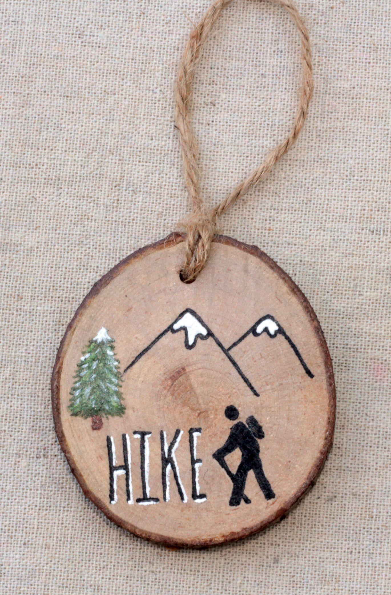 Hiking Ornament Christmas Tree Ornaments Hiking Decor Mountain Hiking