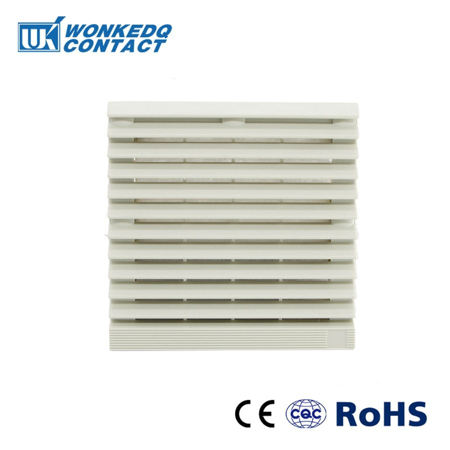 Cabinet Ventilation Filter Set Shutters Cover Fan Waterproof Grille Louvers Blower Exhaust Fk 9803 300 Panel Without Fan He Pc Parts Ventilation Brazilian Real