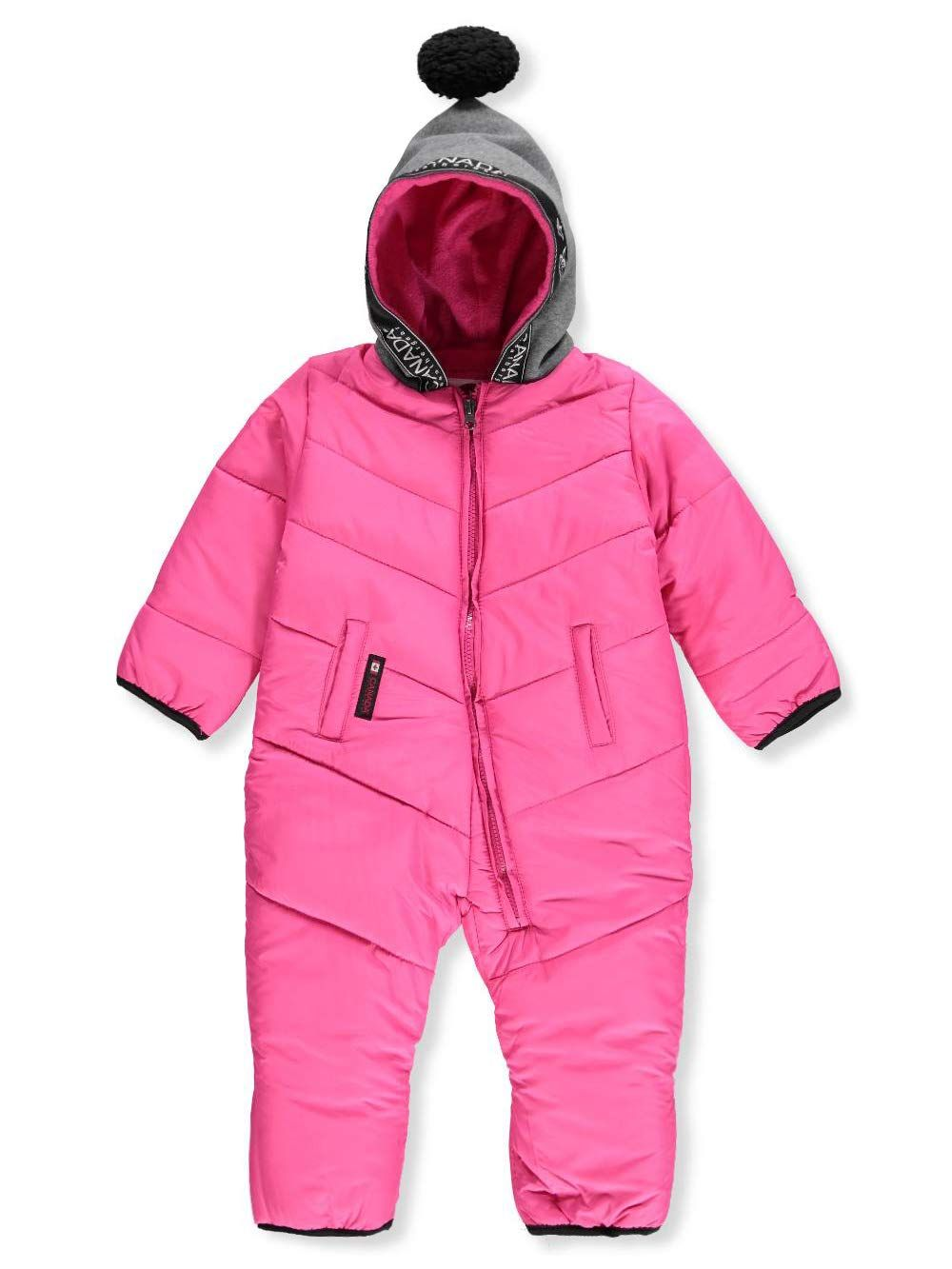 Canada Weather Gear Baby Girls 1piece Snowsuit Fuchsia 12 Months You Can Get More Details By Clicking On Cute Baby Girl Outfits Baby Girl Clothes Snow Suit