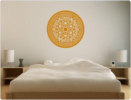 Orientalische schlafzimmereinrichtung ~ Orientalisches muster als wandtattoo ornament für angenehme