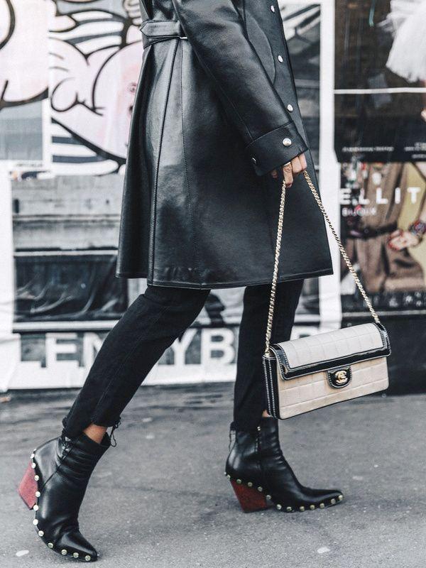 bottes cavaliere femme noir style santiag