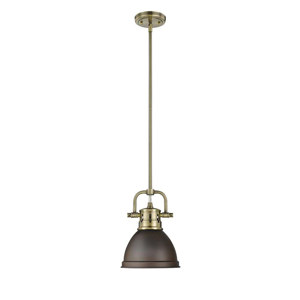 Golden lightingus duncan mini pendant with rod ml abrbz